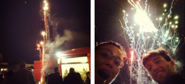 Das Feuerwerk war wie immer sehr abwechslungsreich und hat in allen Farben geleuchtet!
