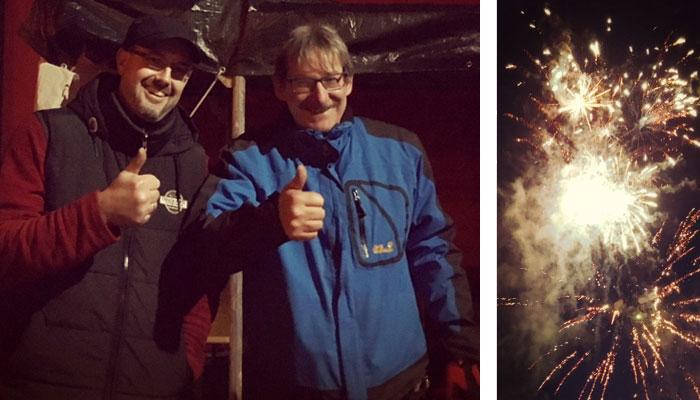 Das neue Knaller-Team hat seinen Job super gemacht!!! (v.l.n.r. Alexander Quell und Werner Reiß)
